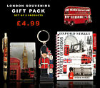 UNION JACK LONDON KEYRING BUS MAGNET NOTEPAD & PEN - BRITISH SOUVENIRS GIFT SET