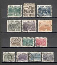 R5190 - AUSTRIA 1929 - LOTTO 10 PAESAGGI DIFFERENTI - VEDI FOTO