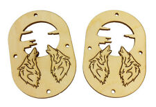 2pc. Howling Wolf Sound Hole Covers for Cigar Box Guitars & More  32-168-01