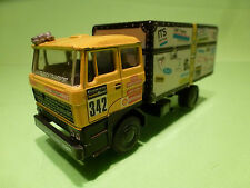 LION CAR 58 DAF 3300 TRUCK 5e PARIS DAKAR JAN DE ROOY  - 1:50 - VG - PORTEGIES