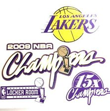 LA Lakers 2009 Champions NBA Static Cling Decal Authentic Locker Room Edt. Rare