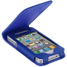 For Apple iPhone 4 4S Wallet Flip Closing Case Cover Blue