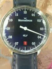MeisterSinger NEO Single-Hand 36mm Automatic Watch Swiss Made Dark Blue Dial