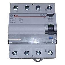 AEG FI-Schutzschalter, Fehlerstromschutzschalter 4-polig 40A/0,03A 30mA 604208