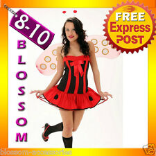 8090 Fancy Dress Party Lady Beetle Bug Costume 8 10 12