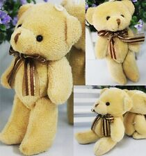 Lovely Adorable Soft Plush Stuffed 12cm Brown Teddy Bear Toys Kids Best Gift 1pc