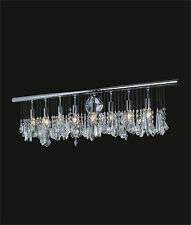 "Contemporary 5-Light Chrome WALL SCONCE with Clear CRYSTALS (W24"" x H11"" x E6"")"