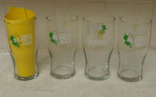 GUINNESS 1/2 WAY TO ST. PAT'S DAY 16oz. TULIP SET OF 4 BEER GLASSES NEW