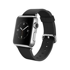 Apple Watch - 38mm Stainless Steel Case w/ Black Leather Band & Classic Buckle