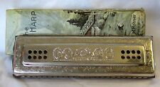 Vintage HOHNER Harmonica, THE ECHO HARP~ Double Sided  ~ Key of C/G ~ Germany