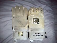 SIGNED MATCH WORN GLOVES BY RENE GILMARTIN.