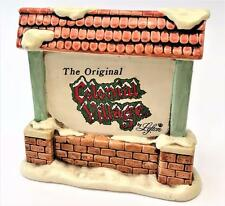 "1990 The Original ""Colonial Village"" Christmas Advertising Lefton Display"