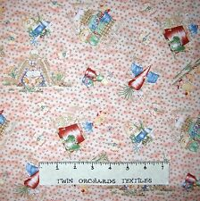 Bunny Fabric - Is It Spring Yet Rabbit Toss on Peach - Northcott OOP YARD