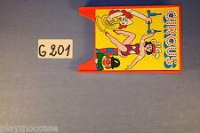 (G201) playmobil panneau publicitaire cirque 3553