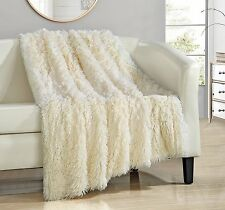 Chic Home Elana Shaggy Faux Fur Supersoft Ultra Plush Decorative Throw Blanket,