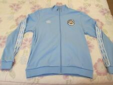 Manchester City track top training jacket size XL blue colour Umbro