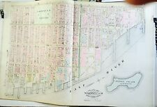 1885 ROBINSON COPY ATLAS MAP EAST GREENWICH VILLAGE ALPHABET CITY MANHATTAN NYC