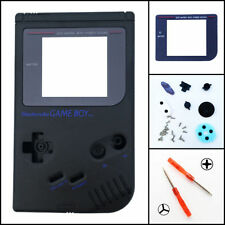Nintendo Game Boy Original DMG-01 Housing Shell GLASS Screen Lens Black