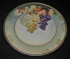 Sevres Thomas Bavaria Dinner Plate with Grapes, Hand Painted Signed PHILLIPS