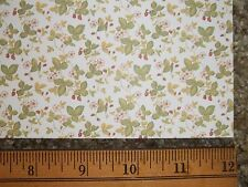 WILD STRAWBERRY  WALLPAPER   BY MINIGRAPHICS -   DOLL HOUSE MINIATURE