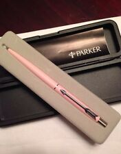 NIB Ladies Parker Pink Silver Ball Point Pen 1987 Dead Stock USA RARE Gift