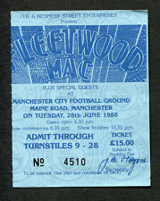 1988 Fleetwood Mac concert ticket stub Manchester UK Shake The Cage Tour