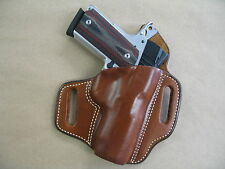 Colt Officer 1911 OWB Leather 2 Slot Molded Pancake Belt Holster CCW TAN RH