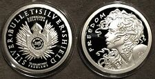 *2013 Freedom Girl Proof 1oz Silver 999 Coin Round COA SBSS AOCS - Wastweet*