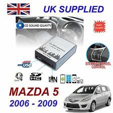 MAZDA 5 2006 -09 MP3 SD USB CD AUX Input Audio Adapter Digital CD Changer Module