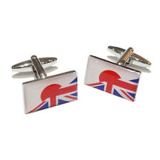 Union Jack UK British & Japan Japanese Joined Flag CUFFLINKS Present GIFT BOX