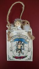 Rustic Craft Handmade Seed Packet Angel Christmas Ornament - Rare - Exc Cond