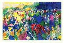"Lot of 10 Leroy Neiman ""Paddock at Chantilly"" Horse Race  rare vintage posters"