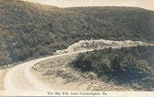 Coudersport PA * The Big Fill RPPC ca. 1920s * Potter Co.