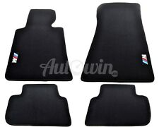 BMW 3 Series E46 1997-2006 Coupe Black Floor Mats With /// M Emblem Clip LHD