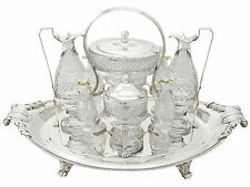 Sterling Silver and Cut Glass Cruet Service by Paul Storr - Antique Georgian