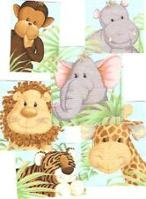 Friendly Jungle Babies - Iron On Fabric Appliques