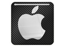 "Apple 1""x1"" Chrome Domed Case Badge / Sticker Logo"