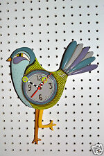 Michelle Allen Designs Bird Clock Funky SASSAFRASS ships in 24 hours