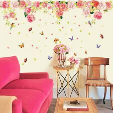 Ideas Rose Flower Removable Vinyl Decal Wall Sticker Mural Art Room Home Decor