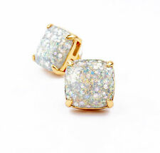 Auth New KATE SPADE New York Opal GalaxyGlitter Studs 12k Earrings New on Card