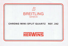 BREITLING CHRONO MINI SPLIT QUARTZ REF.242 ANLEITUNG INSTRUCTIONS HERWINS I188