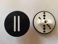 Einlegeschilder Step II schwarz für Drucktaster RD-x , RMQ 22  Klöckner Möller