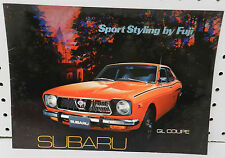SUBARU GL CUPE FUJI JAPAN 1974 73 72 BROCHURE DEALER DEALERSHIP SHOWROOM