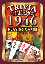 Flickback 1946 Trivia Playing Cards 70th Birthday or 70th Anniversary Gift