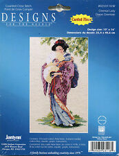 "JANLYNN ORIENTAL LADY COUNTED CROSS STITCH KIT - 10""X16"" 14 Count"