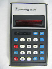 Rare 70´s vintage calculator Taschenrechner Privileg 851 M + case + manual