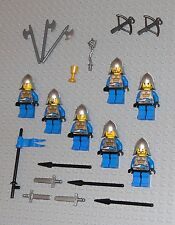 LEGO Minifigures Lot 7 Royal Crown Castle Knights Swords Lego Minifigs People