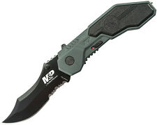 Smith & Wesson S&W Knives M&P 40% Serrated Assisted Open Folding Knife SWMP1BS