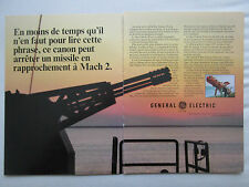 5/85 PUB GENERAL ELECTRIC SEA VULCAN 30 GATLING ROYAL NAVY GOALKEEPER FRENCH AD