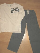 New lot boys 8 top shirt Old Navy TCP 7 slim pull on pants outfit set